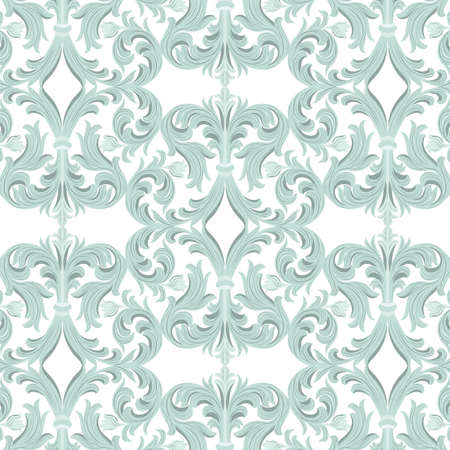 rich wallpaper: Vintage Vector Baroque Luxury ornament pattern. Damask Victorian Rich Rococo pattern. Elegant Luxury texture for wallpaper, textile, tile, and page fill. Opal blue color pattern