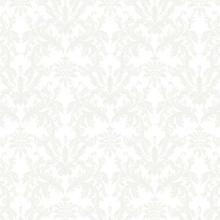 revive: Vector Baroque Vintage floral Damask pattern. Luxury Classic ornament, Royal Victorian texture for wallpapers, textile, fabric. White gray color