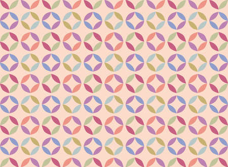 fabric textures: Vector abstract circle geometric pattern ornament background for cards, web, fabric, textures, wallpapers, tile, mosaic. colorful spring summer pattern