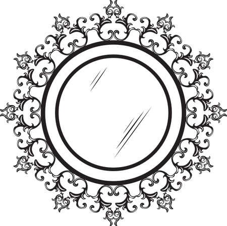 decorative pattern: Vintage round ornamented frame. Vector decorated frame