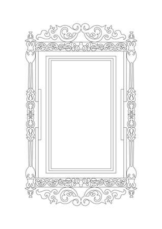 aristocracy: Baroque Rococo frame decor. Vector French Luxury rich carved ornaments and Wall Frames. Victorian Royal Style frame