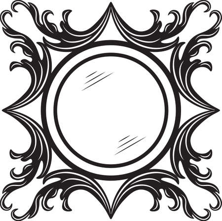 ornamented: Vintage round ornamented frame. Vector decorated frame