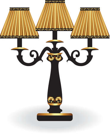 luster: Baroque Elegant lamp with ornaments.Vector Elegant Royal Baroque Style Wall lamp