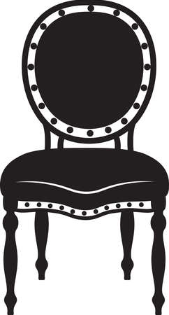 Modern Neoclassic chair. Vector furniture sketch Vector Illustration
