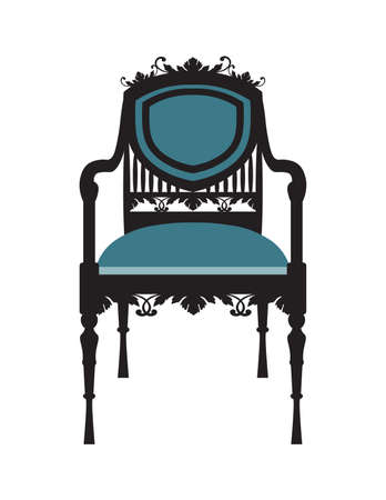 aristocracy: Vintage Chair furniture Vector. Rich carved ornaments furniture. Vector Victorian Style furniture. Vector sketch