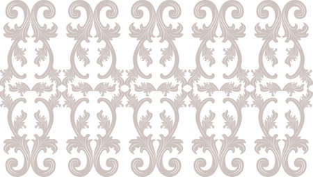 taupe: Vintage floral ornament pattern. Vector abstract ornament pattern. Taupe color pattern