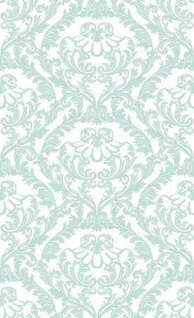 opal: Vintage  Baroque ornament pattern. Vector Luxury damask decor. Royal Victorian texture for wallpapers, textile, fabric. opal blue color
