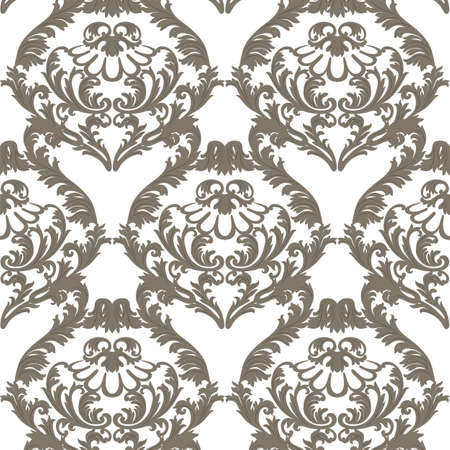 revive: Vintage  Baroque ornament pattern. Vector Luxury damask decor. Royal Victorian texture for wallpapers, textile, fabric. brown color decor