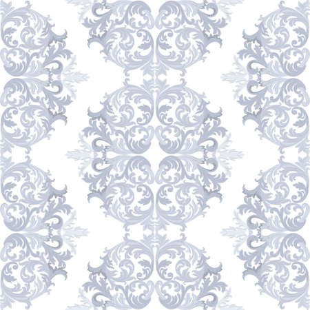 taupe: Vintage round Baroque ornament pattern. Vector Luxury damask decor. Royal Victorian texture for wallpapers, textile, fabric. Taupe color