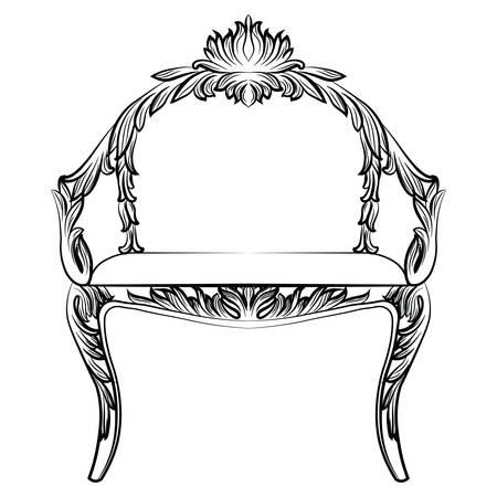 Barock Luxus Stil Sessel Möbel. Thron Mit Luxuus Reichen Verzierungen.  Französisch Luxus Reich