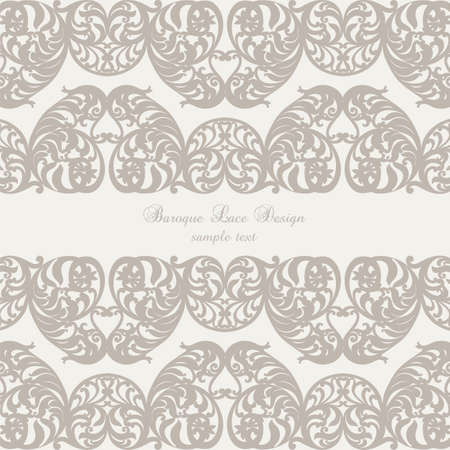 revive: Vintage Invitation Card with Luxurious Baroque ornament. Brown color
