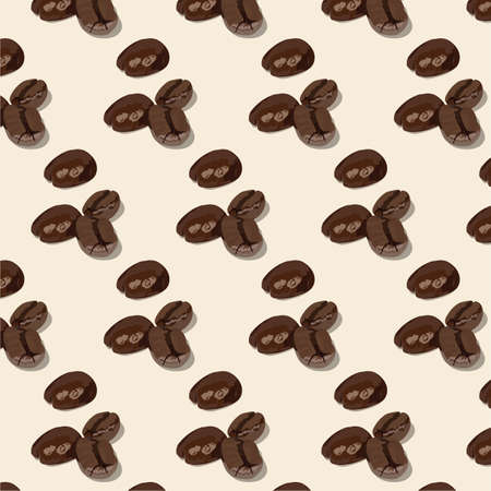 vivacity: Roasted coffee beans pattern Vector