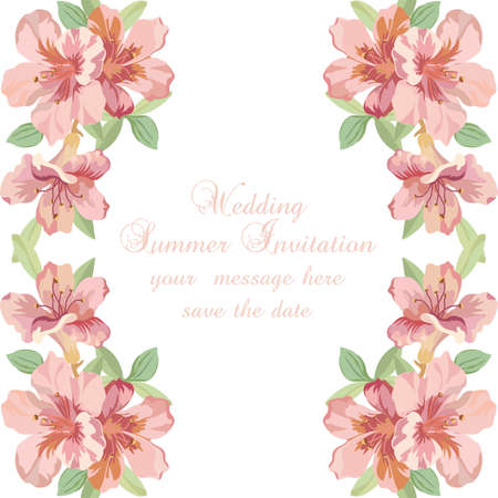 delicate: Vintage Spring Summer delicate Flowers card Vector
