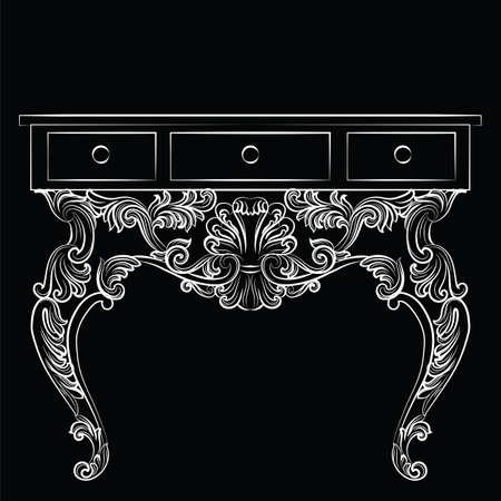 tabla barroco rico rica de lujo francs muebles tallados adornos vector de estilo victoriano