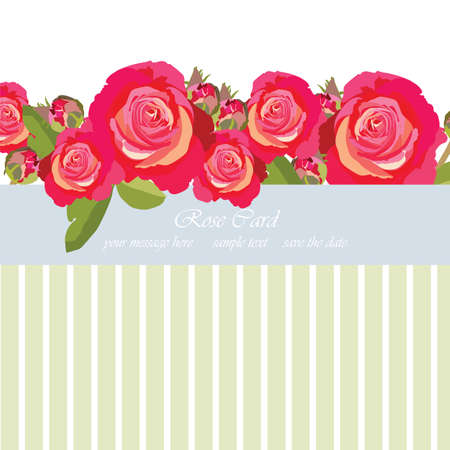 Delicate Pink Roses bouquet card. Vector rose flower for background greeting cards and invitations of the wedding, birthday, Valentines Day, Mothers Day