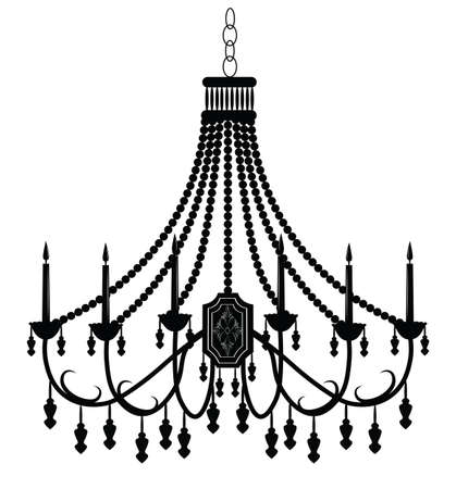 scone: Baroque Elegant Wall lamp with ornaments.Vector Elegant Royal Baroque Style Wall lamp