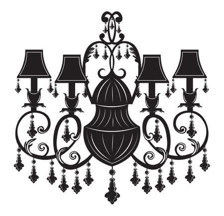 candelabrum: Baroque Elegant Wall lamp with ornaments.Vector Elegant Royal Baroque Style Wall lamp