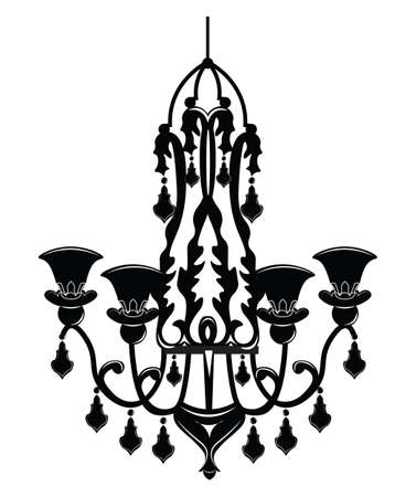 castle interior: Baroque Elegant Wall lamp with ornaments.Vector Elegant Royal Baroque Style Wall lamp