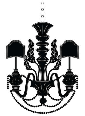 Baroque Elegant Wall Lamp With OrnamentsVector Royal Style Vector