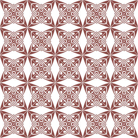 taupe: Vintage Retro floral ornament pattern. Vector abstract decor for backgrounds, texture, fabric, textile, cards. taupe color Illustration