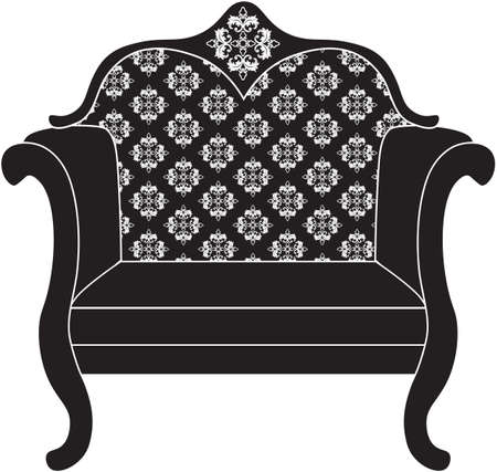 luxury furniture: Baroque luxury style armchair furniture. Throne with luxurious rich ornaments. French Luxury rich carved ornaments decoration. Vector Victorian exquisite Style furniture. Vector sketch