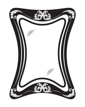 mirror frame: Vintage mirror frame with luxury ornaments. Vector illustration Illustration