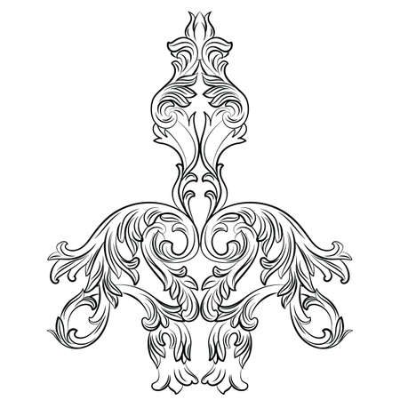 Vintage Baroque ornament patroon. Vector damast decor. Royal Victorian textuur voor achtergronden, stof