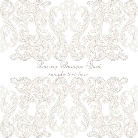 victorian anniversary: Vintage Baroque ornament card. Vector damask decor. Royal Victorian poster for greetings, events, celebration, anniversary