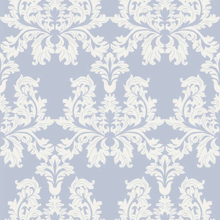 foliate: Vintage Baroque ornament pattern. damask decor. Royal Victorian texture for wallpapers, textile, fabric