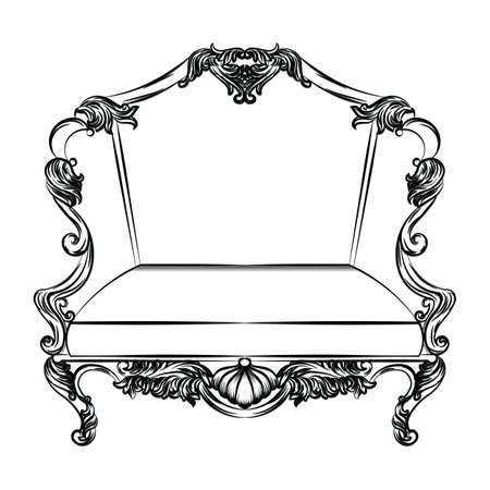 Exquisite Fabulous Imperial Baroque chair. French Luxury rich intricated ornamented structure. Victorian Royal Style decor