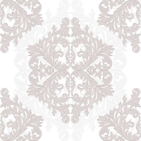 revive: Vintage Baroque ornament pattern. damask decor. Royal Victorian texture for wallpapers, textile, fabric