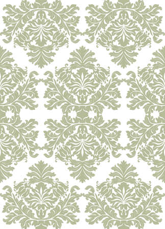 foliate: Vintage baroque ornament. Retro pattern antique style. Luxury old fashioned damask. Royal Victorian texture for wallpapers, textile, wrapping. Exquisite floral decor