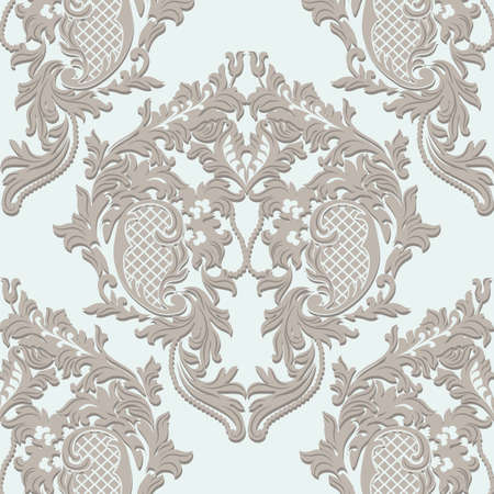 ceremonies: Damask Lace floral ornament. Delicate intricate decorated for wedding ceremonies, anniversary, party, events. Beige color