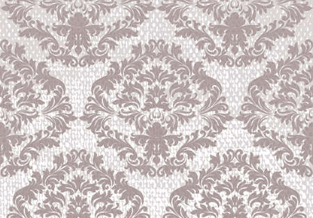 foliate: Baroque floral Damask pattern background. Luxury Classic decor ornament. Royal Victorian texture for wallpapers, textile, fabric