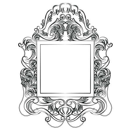 mirror and frame: Exquisite Fabulous Imperial Baroque Mirror frame. French Luxury rich intricated ornaments and crystals. Victorian Royal Style decor