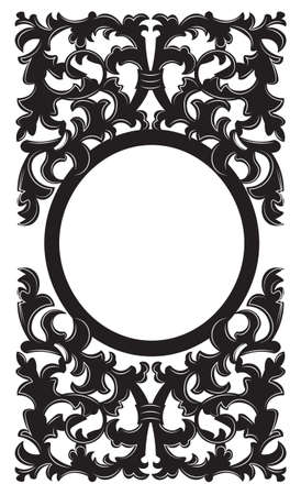 baroque room: Vintage Imperial Baroque frame. Vector French Luxury rich carved ornamented decor. Victorian wealthy Style structure. Black color