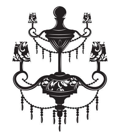 Classic baroque chandelier on white background luxury decor classic baroque chandelier on white background luxury decor accessory design vector illustration sketch aloadofball Images