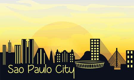 Sao Paulo City Silhouette Vector