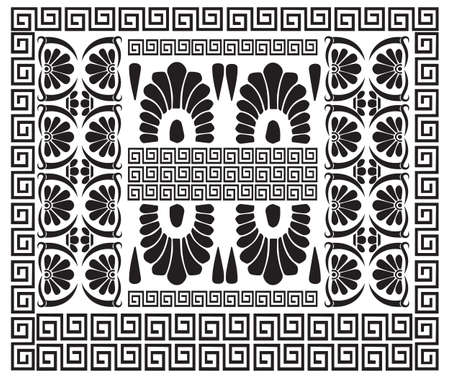 hellenic: Greek pattern. Ancient Hellenic decor. Set of meander ornaments. Vector antique borders