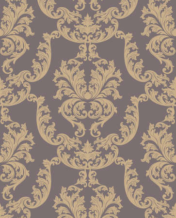 textile texture: Vector Baroque Vintage floral damask pattern background. Luxury Classic ornament, royal Victorian texture for wallpapers, textile, fabric