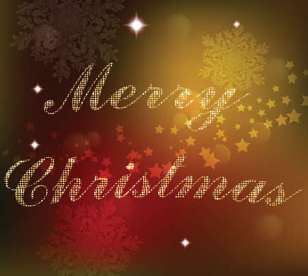 shinny: Christmas card background. Golden shinny text. Xmas card Happy New Year celebration. Holiday design Vector illustration