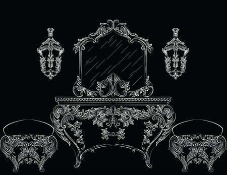baroque furniture: Rich Baroque Rococo furniture