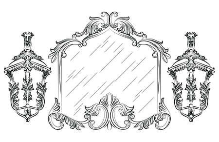 baroque room: Vector Baroque mirror frame