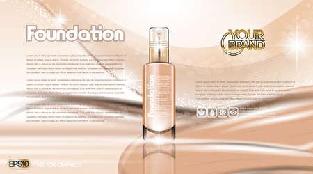 Glamorous foundation ads 向量圖像