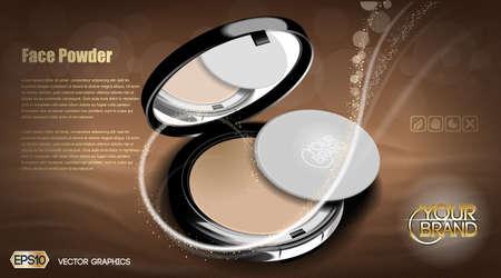 Moderne Gesichtspuder kosmetische