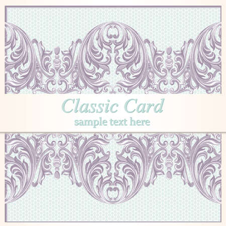 victorian wallpaper: Vintage Baroque Lace Invitation card Imperial style. Vector decor background. Luxury Delicate Classic ornament. Royal Victorian floral for birthday, wedding, textile print, wallpaper, wrapping
