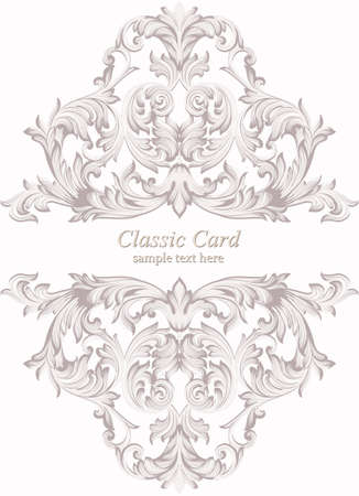 victorian wallpaper: Vintage Baroque Invitation card Imperial style. Vector decor background. Luxury Delicate Classic ornament. Royal Victorian floral for birthday, wedding, textile print, wallpaper, wrapping