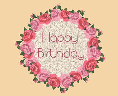 Vintage Flowers Birthday Cards ~ Pink typewriter vintage ecard happy birthday