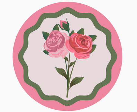wishing card: Vintage Rose Flowers bouquet  for invitations, celebration, anniversary etc