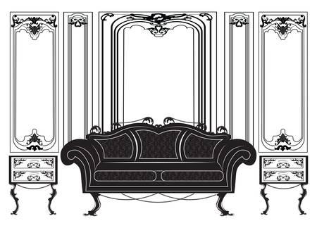 gothic style: Vintage Gothic style furniture set.